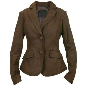 Forzieri Women's Dark Brown Leather Fitted Jacket - Polyvore ...