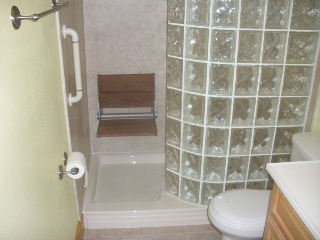 Bathtub To Glass Block Walk In Shower Conversion, Shower Tub .