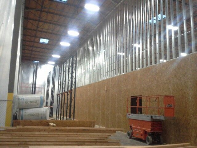 First floor wood structural framing second floor metal structure ...