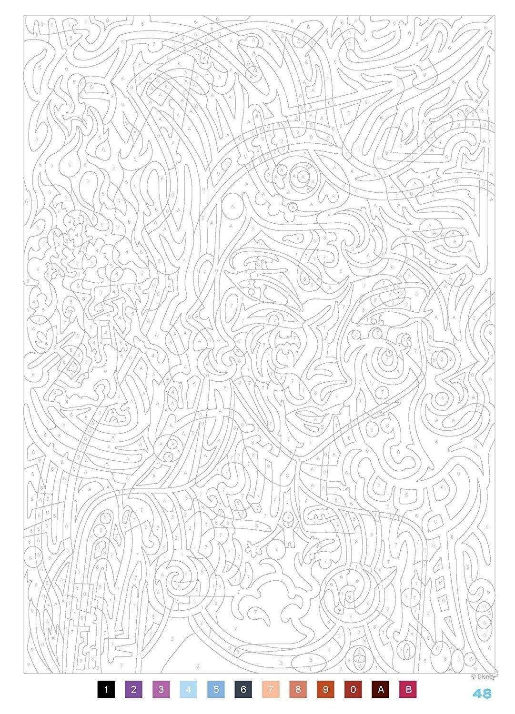 Coloriage De Disney Pour Les Grand  Abstract coloring pages
