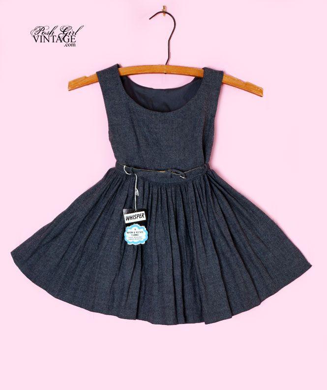1950's Grey Flannel Girls Vintage Swing Dress, cute! | Seeew sweet ...