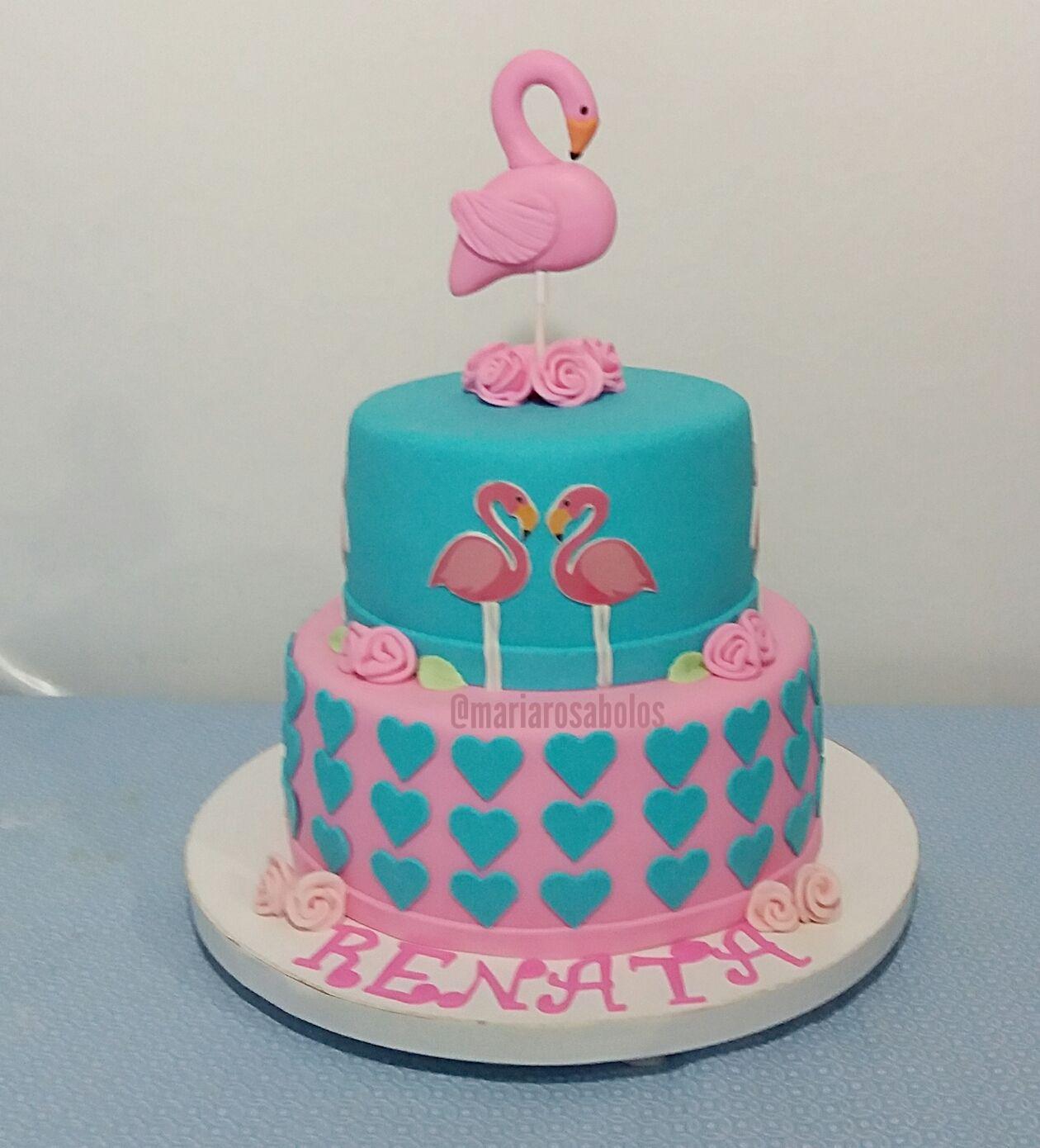 Festa Woodland Bolo De Flamingo Bolo Bolinhos Tropicais