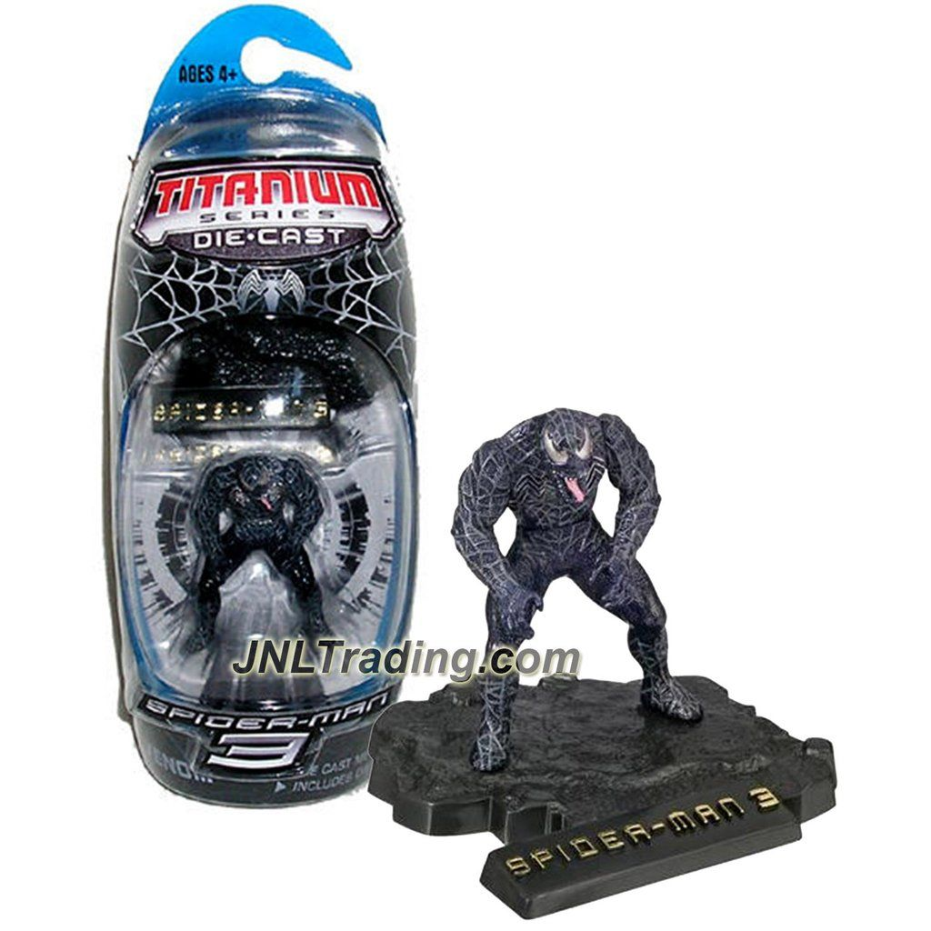 marvel year 2007 spider-man 3 titanium die cast series 3 inch tall