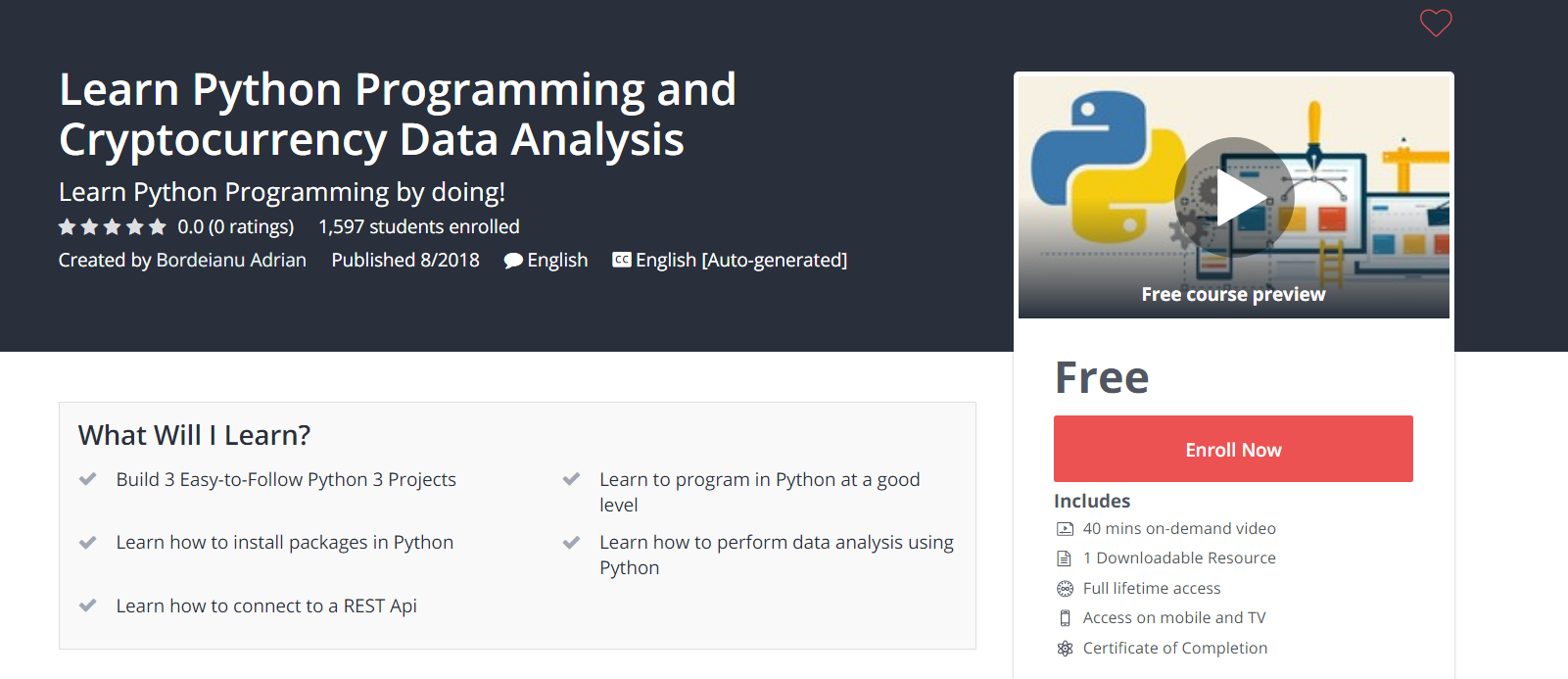 Learn #Python #Programming and #Cryptocurrency #Data
