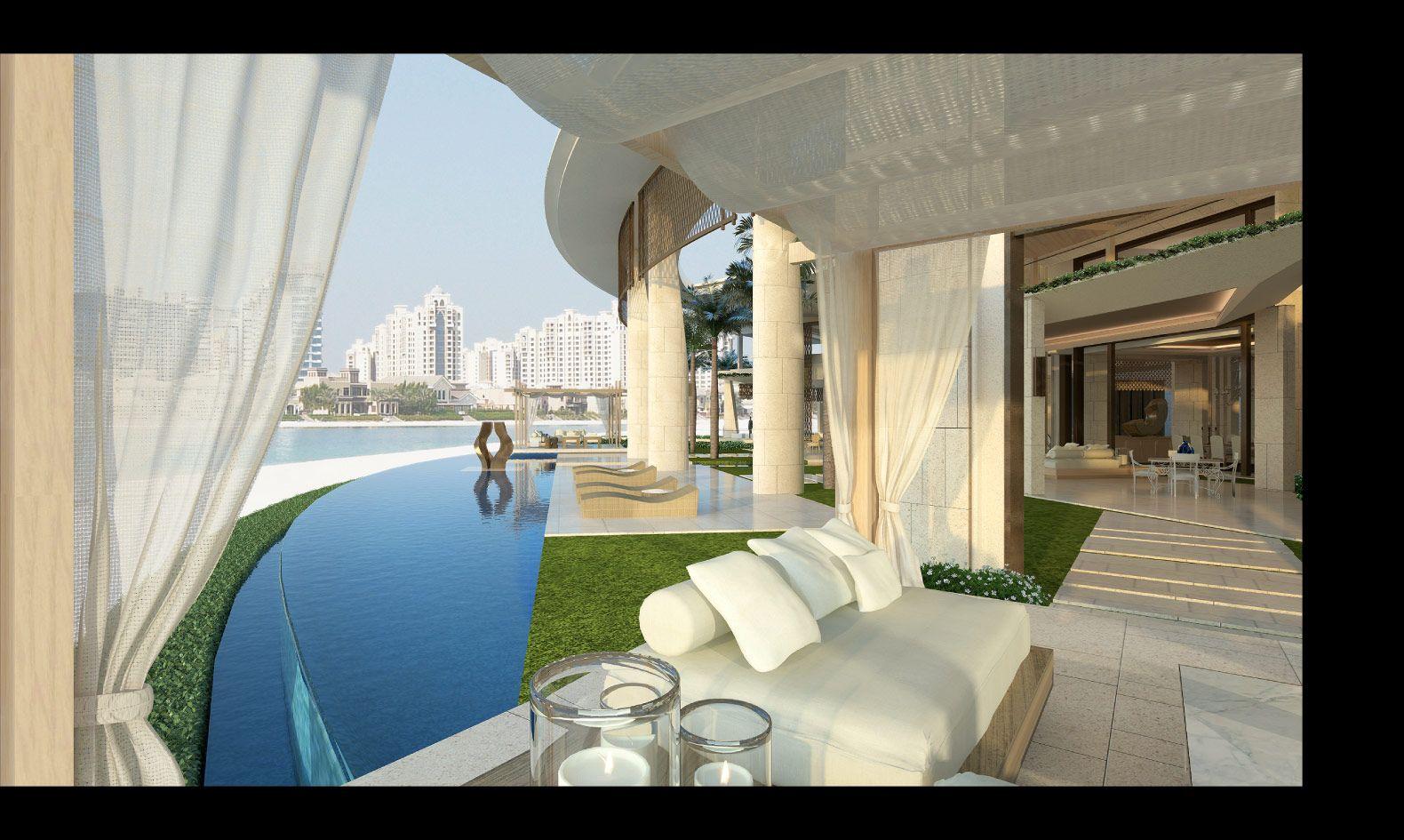 UAE Palm Jumeirah exterior Dubai houses, Mansions