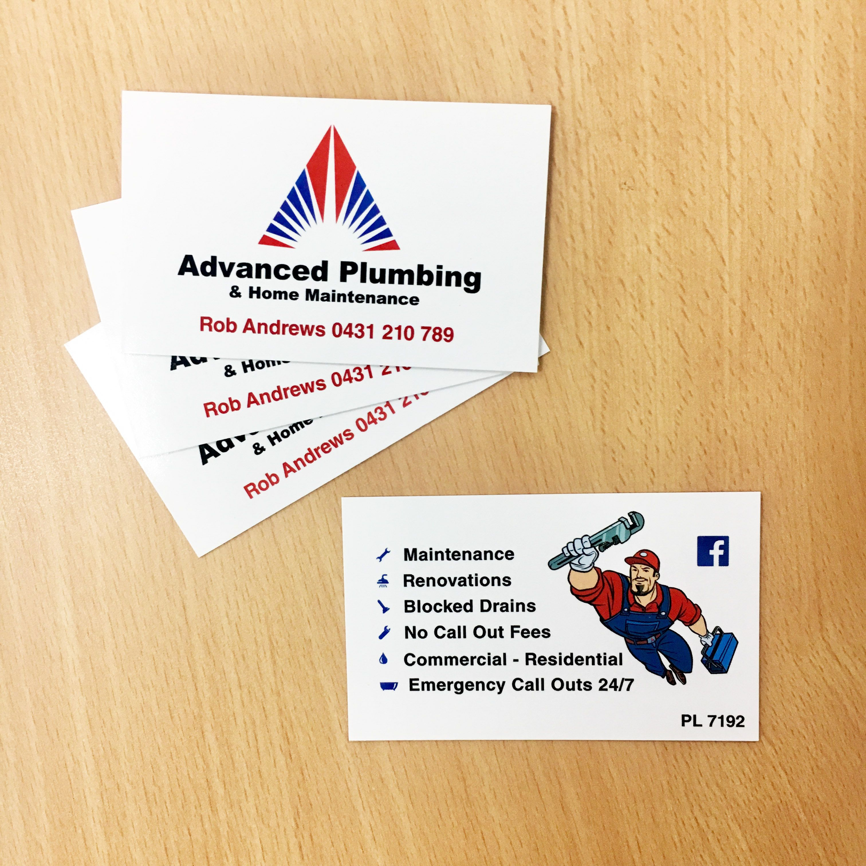 Advanced Plumbing Business Cards Design And Print Business Card Design Card Design Design