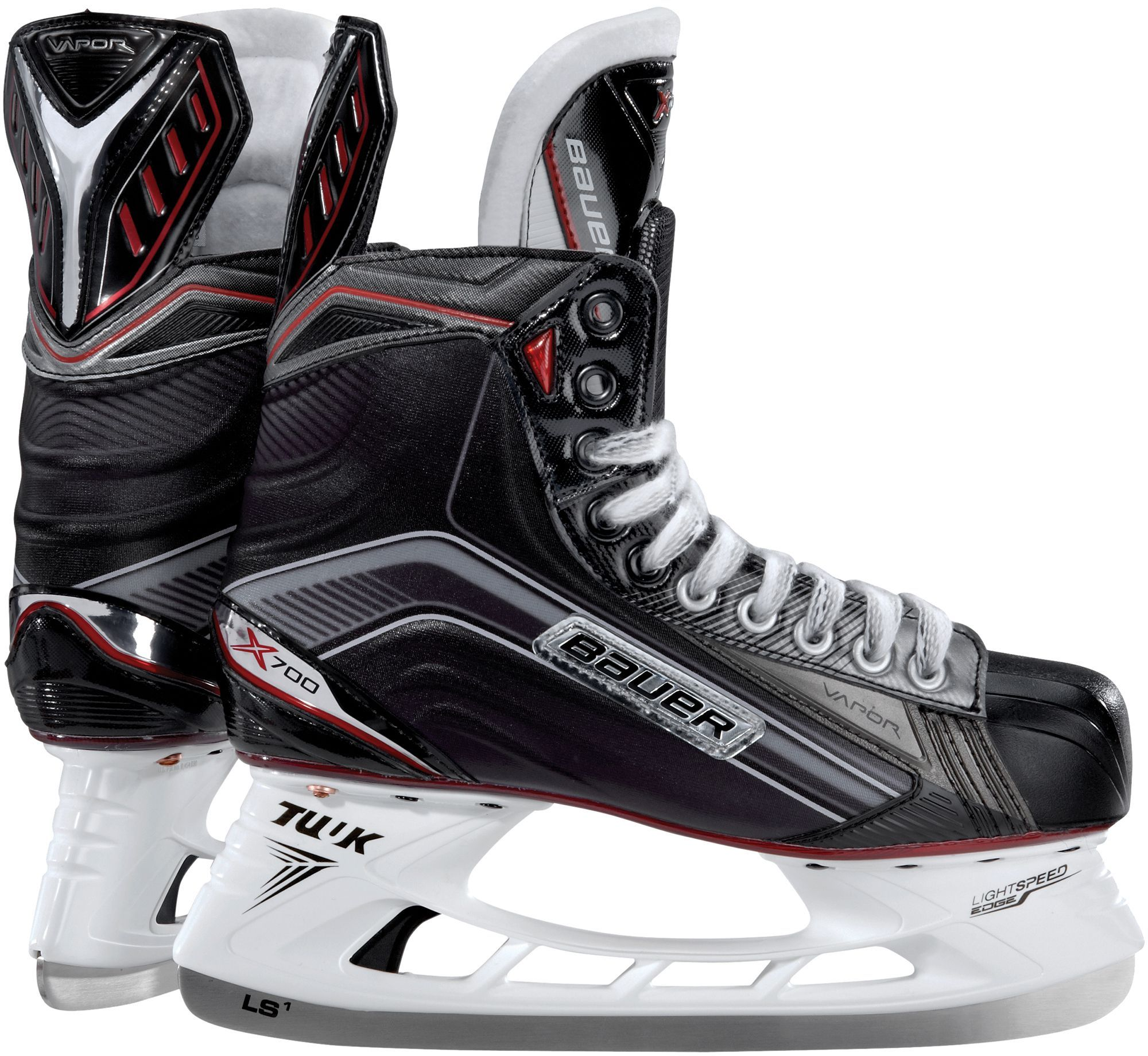 Bauer Junior Vapor X700 Ice Hockey Skates Black Ice Hockey Hockey Bauer