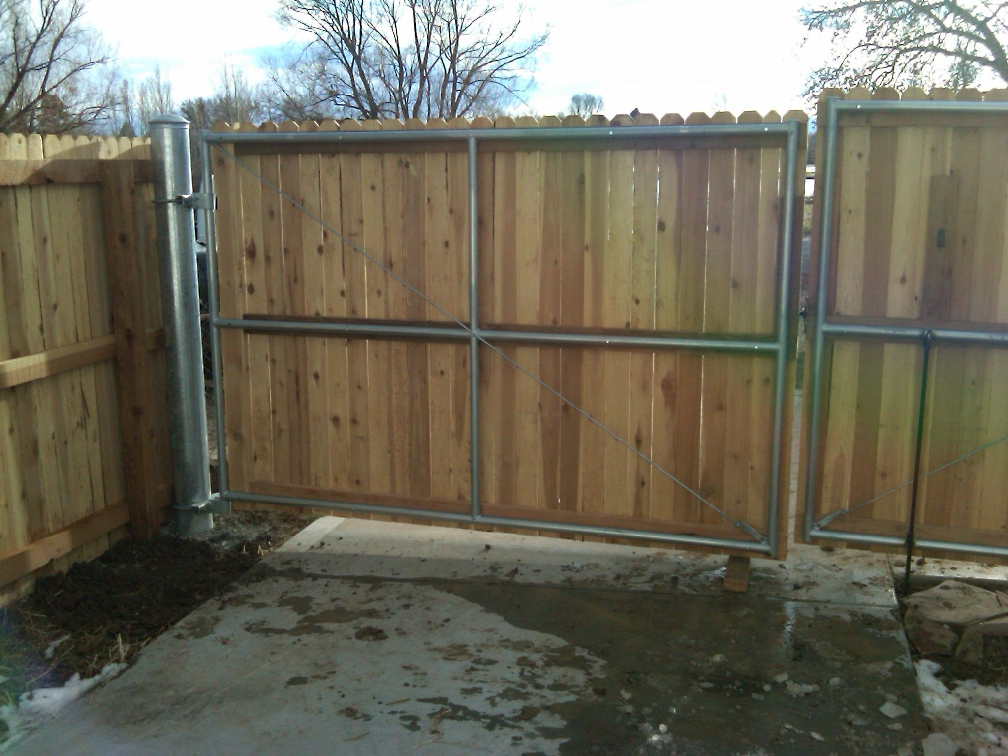 Image result for Metal Wooden Fences with Gates | Fence ideas ...