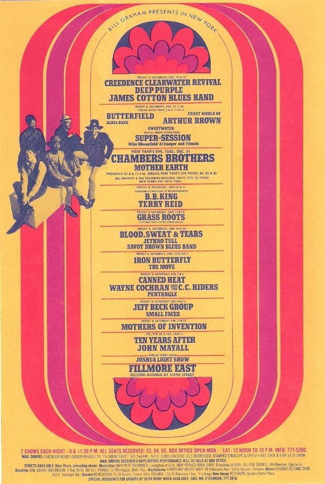Pentangle At The Fillmore East Ny Fillmore East Music Concert Posters Creedence Clearwater Revival