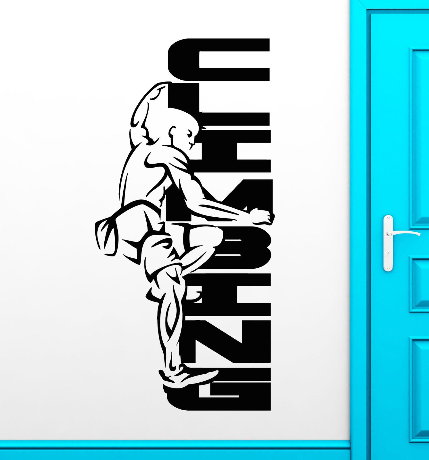 Details about Vinyl Wall Decal Rock Climbing Logo Extreme