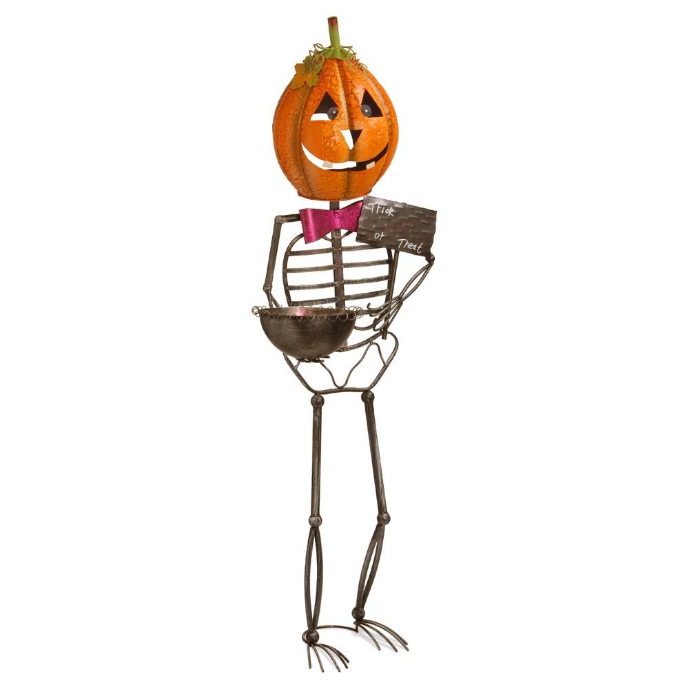 53 Metal Pumpkin Man - National Tree Company, Orange Dream | Trees ...