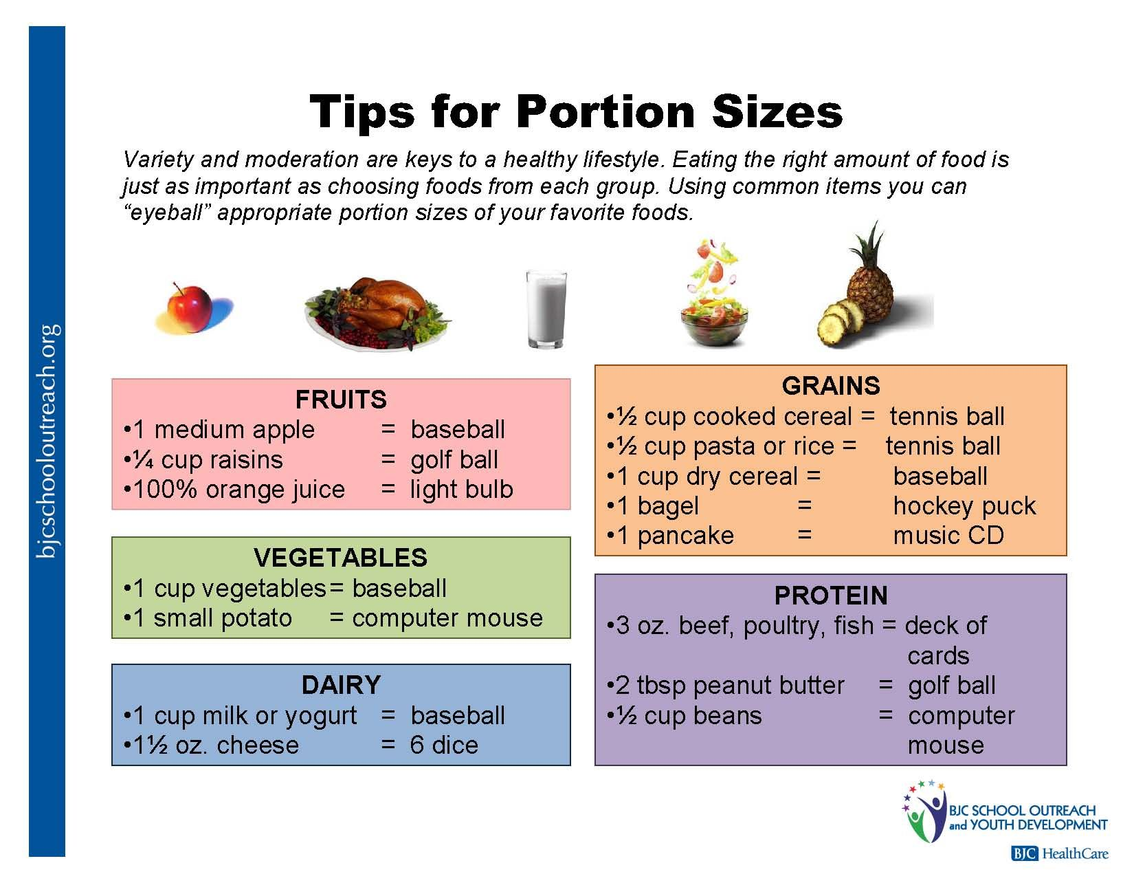 10 14 Tips For Portion Sizes