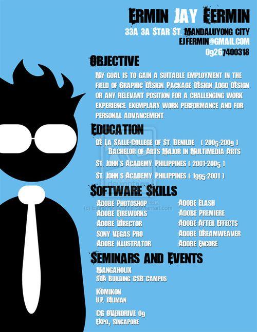 40 Stunningly Creative Resume Designs on DeviantArt Portfolio / CV