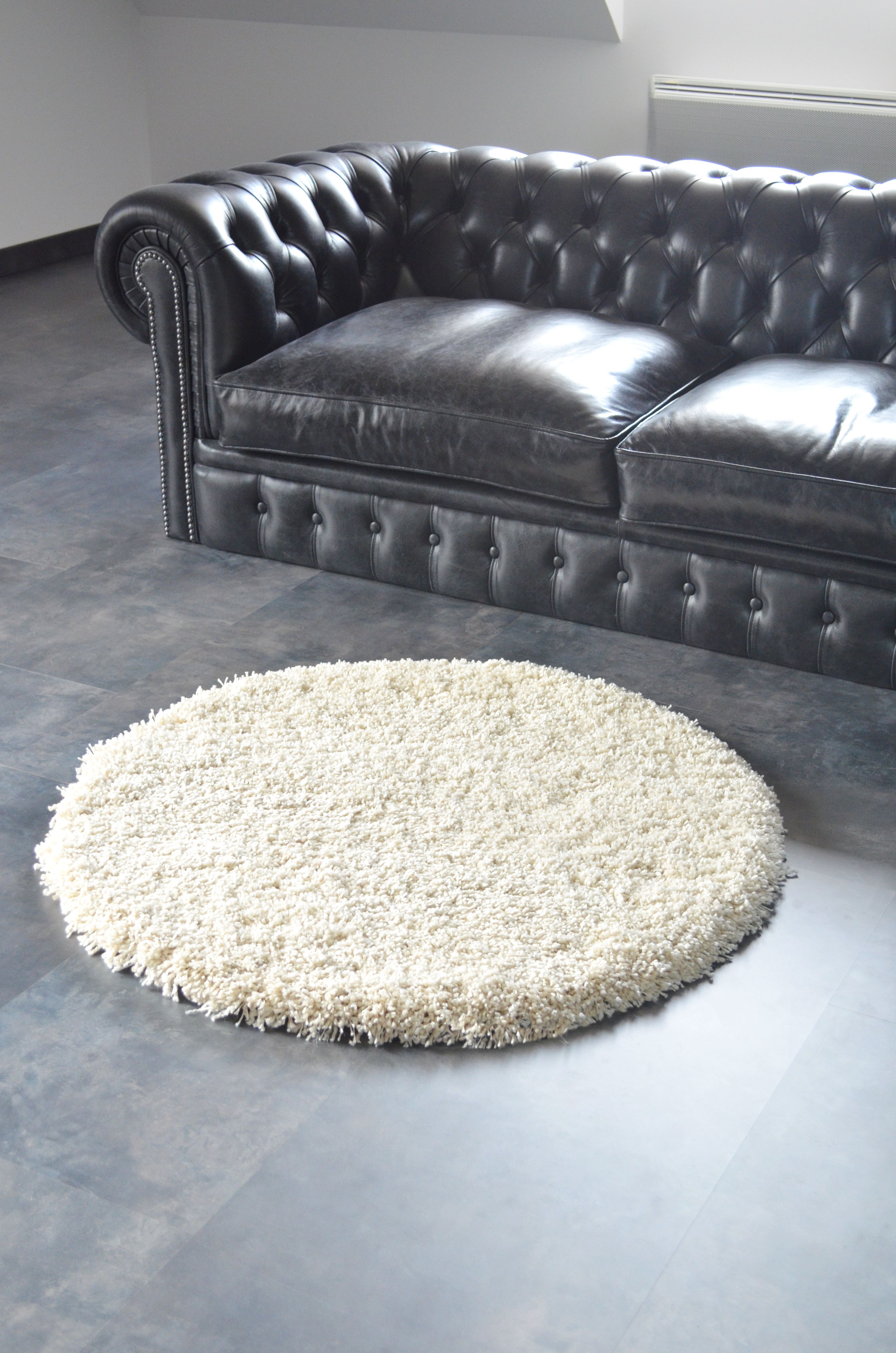Ambiance Cosy Pour Ce Tapis Rond Sweety Shaggy Tapis Sur Mesure