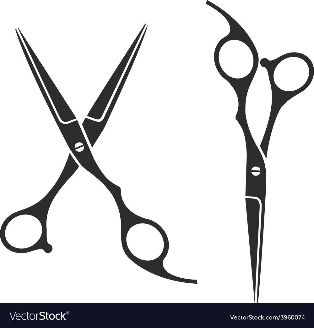 Vintage Barber Shop Scissors Logo Label Badge And Design Element Download A Free Preview Or High Quality Adobe Illustrat Scissors Logo Scissors Barber Shop