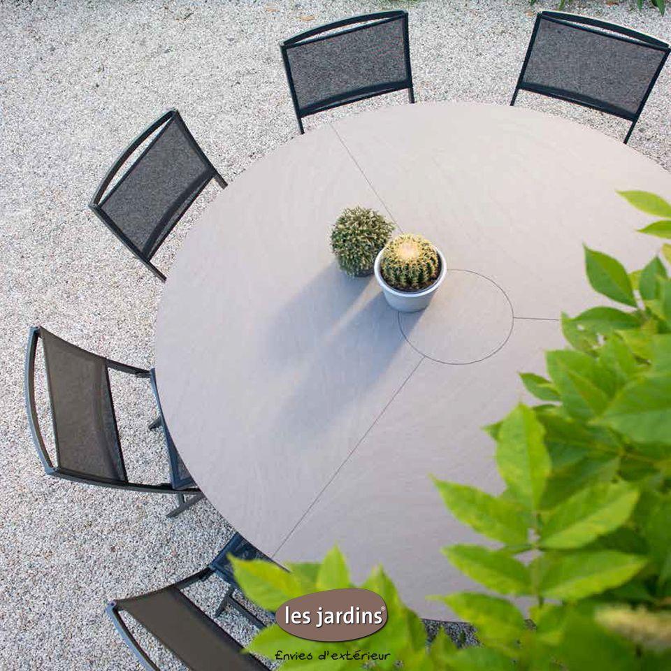 Collection HEGOA - table ronde avec structure aluminium et ...