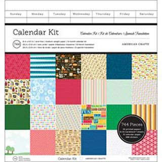American Crafts™ Make Your Own Calendar Kit: Spiral, 8 x 8.5 inches