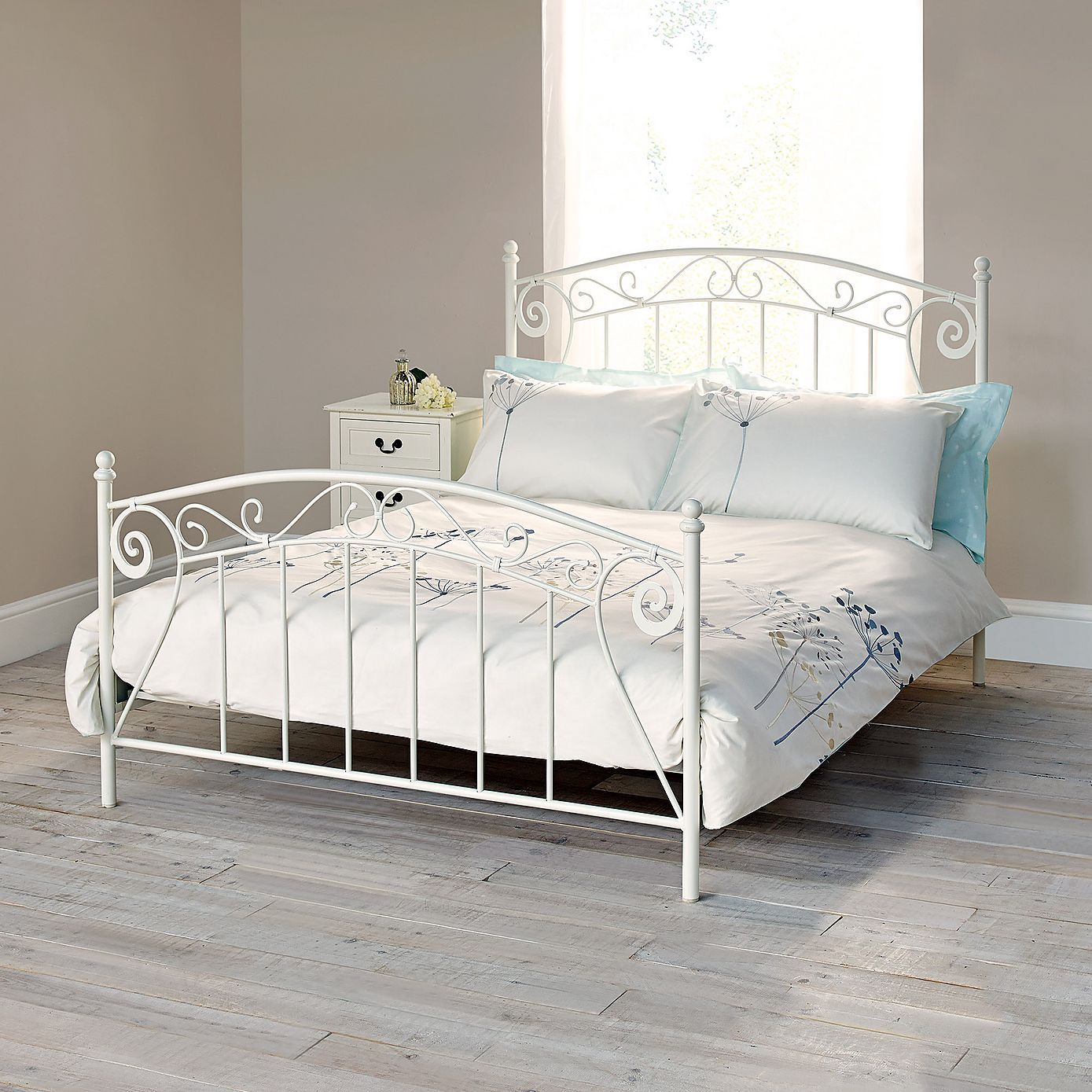Tiffany Double Bedstead - Dunelm Oak Bed Framewooden