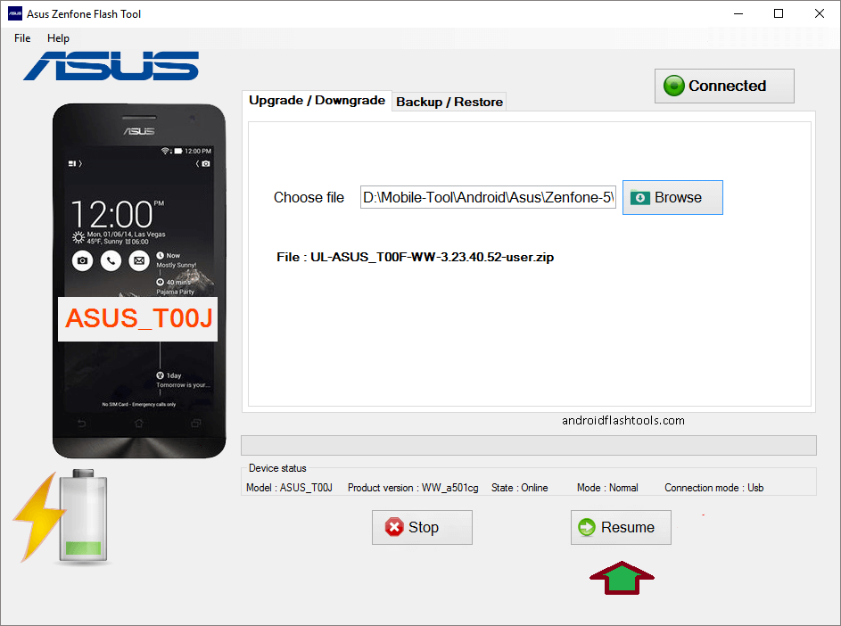 How to use Asus ZenFone Flash Tool to install stock ROM on