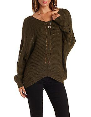 Oversized Cocoon Pullover Sweater: Charlotte Russe | Sense of ...