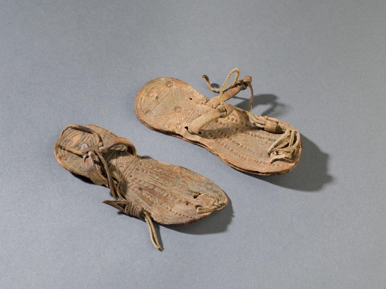bf856f11c81e Pair of Child s leather sandals. 332 B.C.-30 B.C. Egypt.
