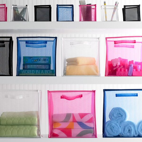 White Folding Mesh Cubes from Container Store Organize Pinterest