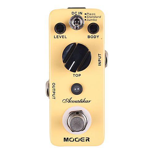 Mooer Acoustikar Acoustic Guitar Simulator Effects Pedal Guitar Pedals Acoustic Guitar Acoustic Electric Guitar