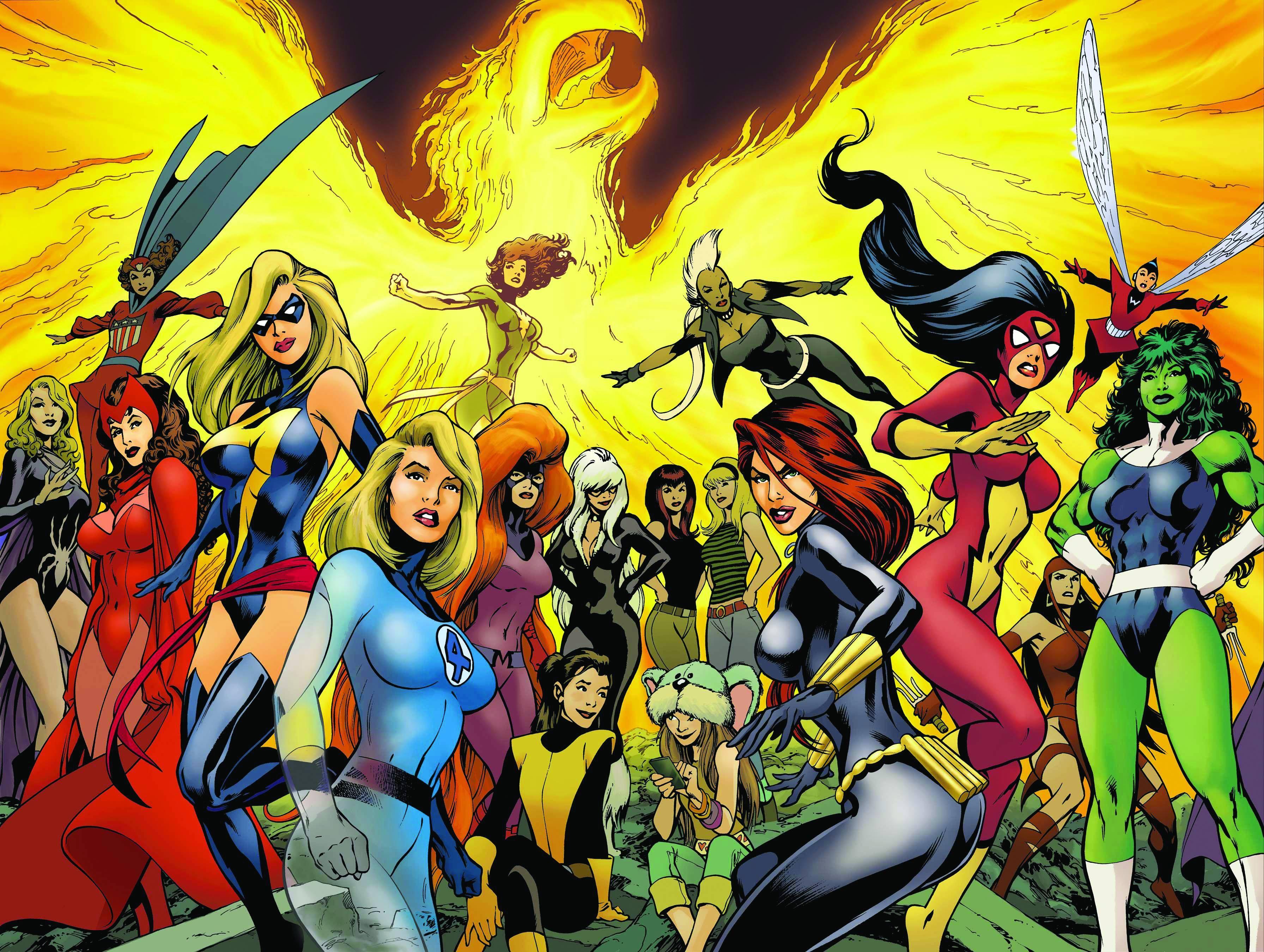 super heroinas quadrinhos
