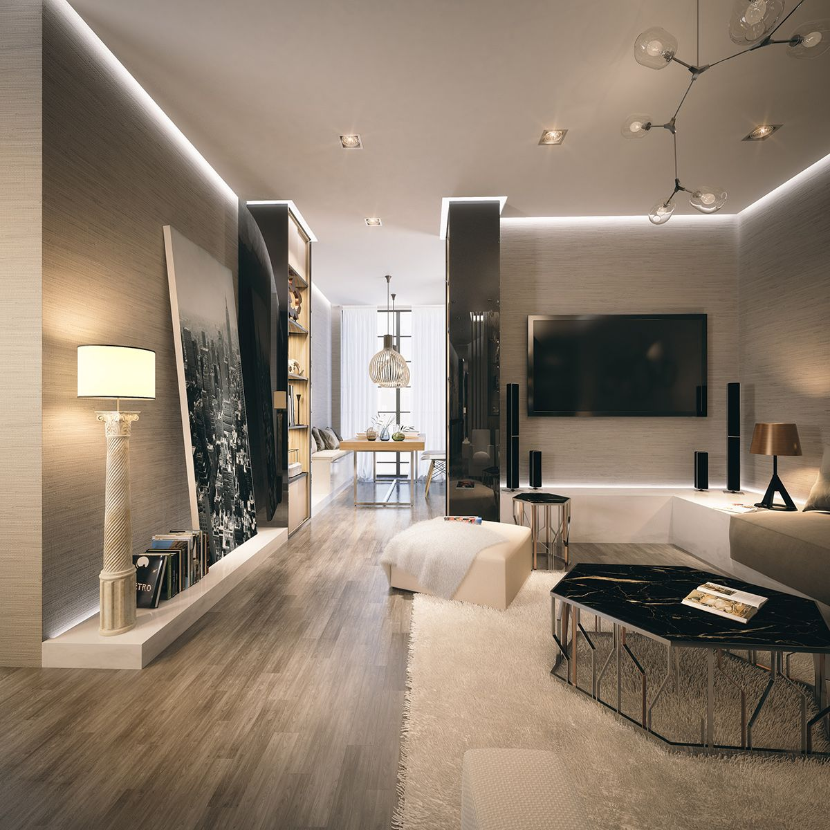 Luxury Apartments Interior. Private luxury apartments complex in Western Africa  Full CGI project competed 2014 for Tao