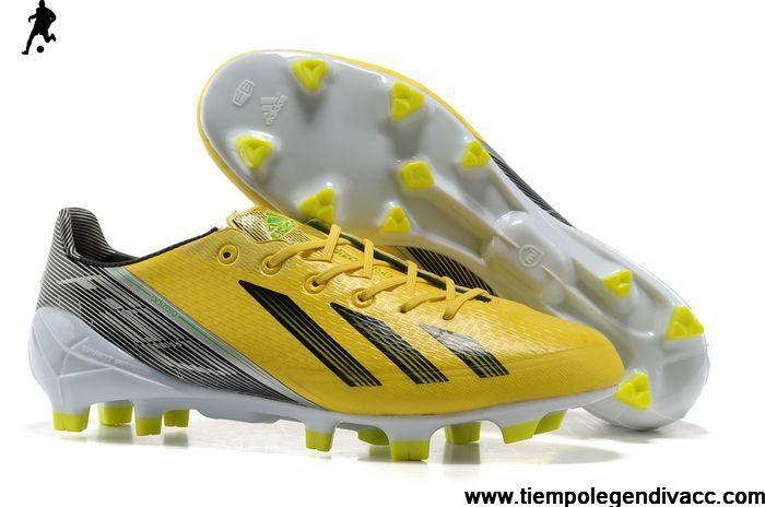 Adidas F50 Adizero Trx FG Tpu Yellow Black White shoes