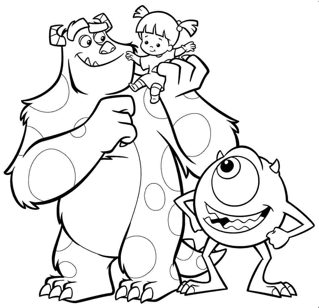 Monsters Inc Christmas Coloring Pages