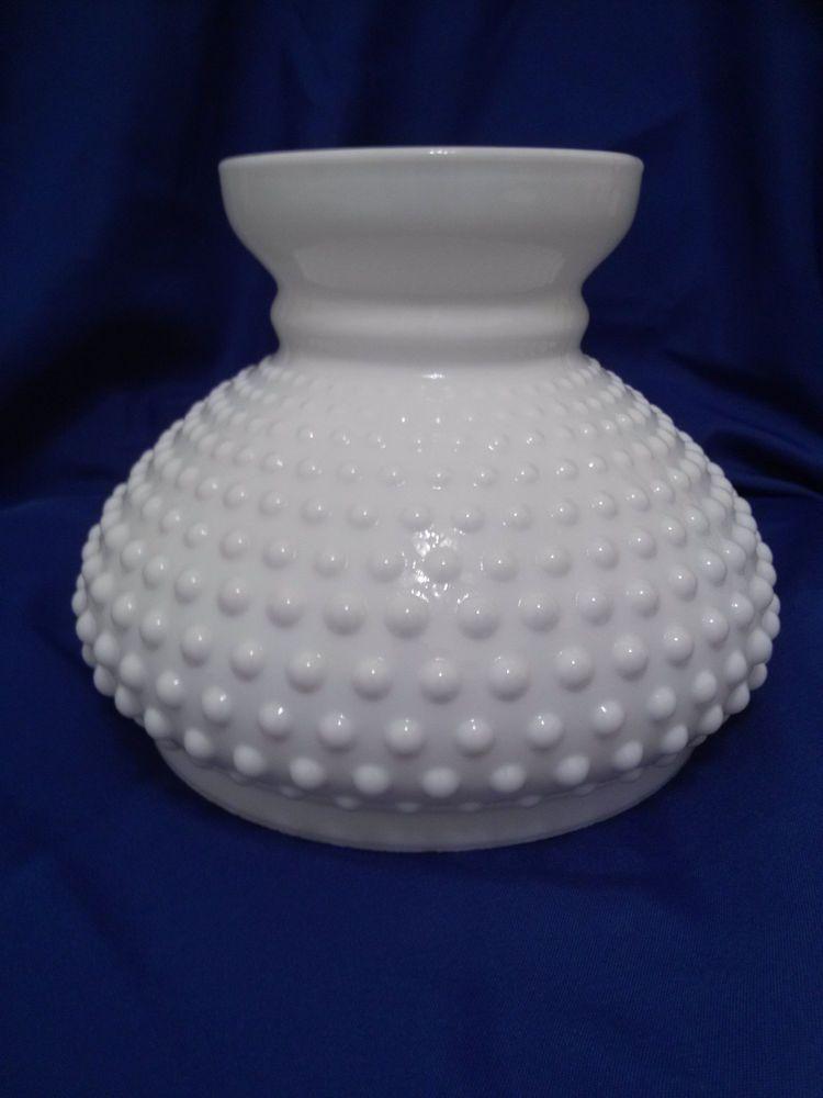 Vintage Fenton White Milk Gl Hobnail Shade Lamp Replacement Vintagelampshaderetro