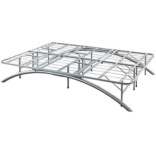Silver Metal Arch Platform Bed Frame Queen With Unique Design ...