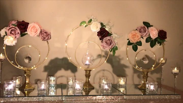 Centerpieces on tables