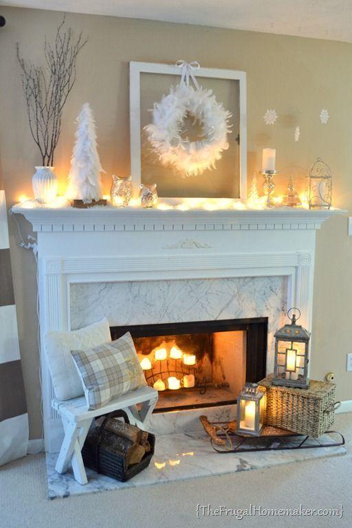 Idee ~ Vase / Äste / Bäume / Gestell / Kranz / Ornamente / Kerze / Kerzenständer ... #xmastreedecoratingideas