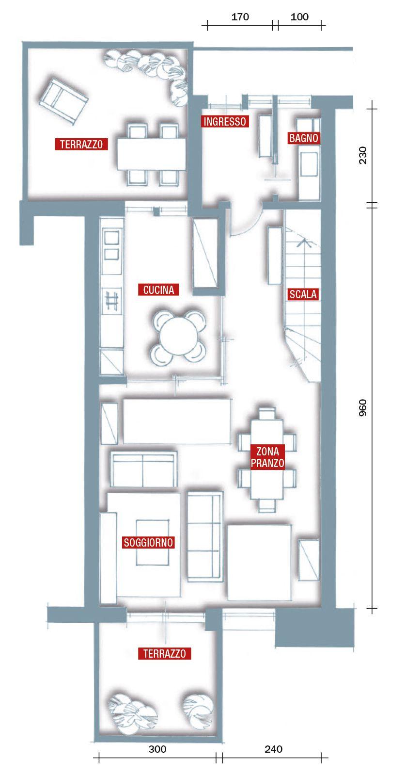 Una casa rinnovata nel look con luce moltiplicata for Piantine di case