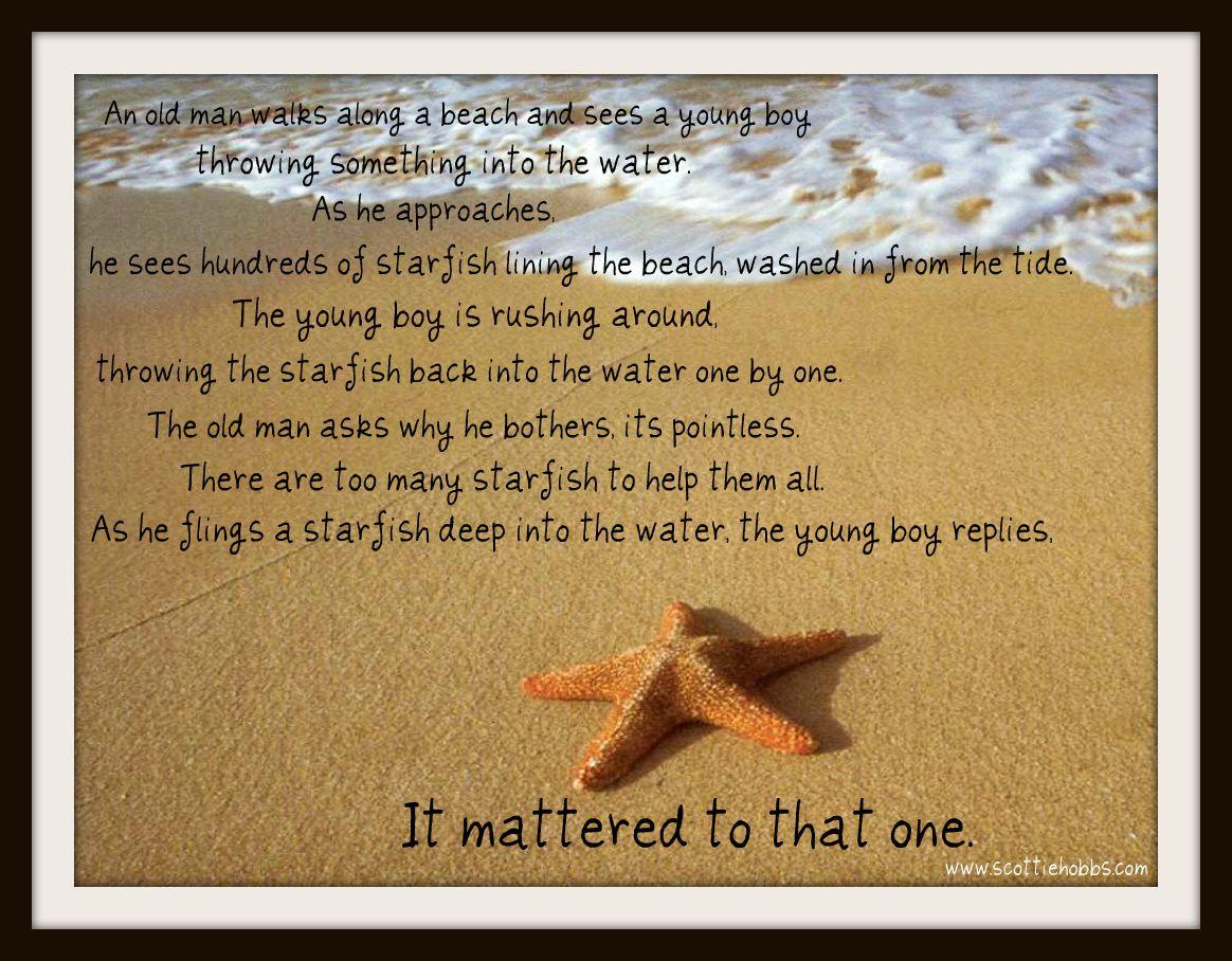 Starfish poem card - Starfish Poem For Teachers Starfish On The Beach Story Change Lives