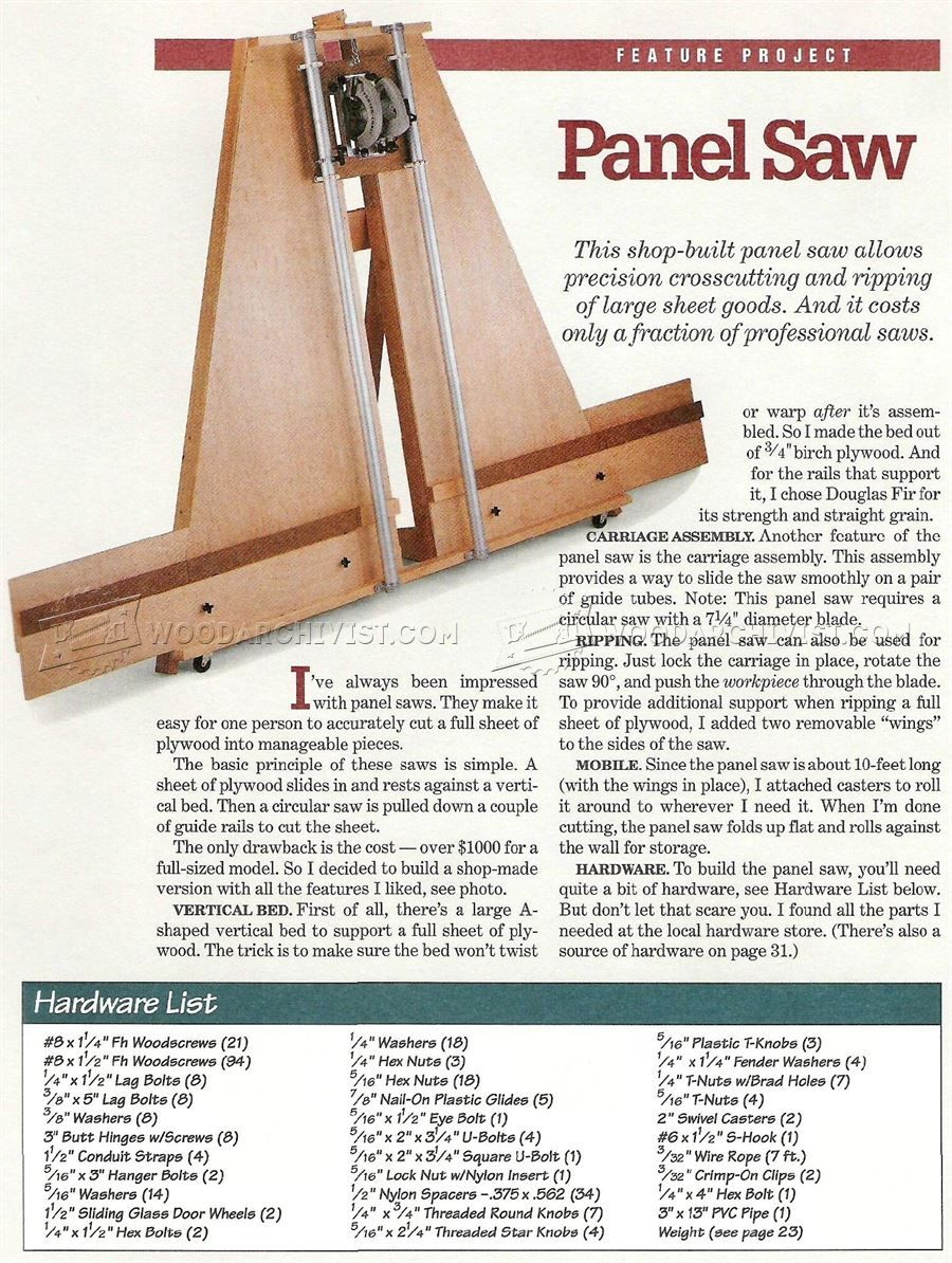 image of #382 Panel Saw Plans | oficina | Pinterest | Woodworking ...