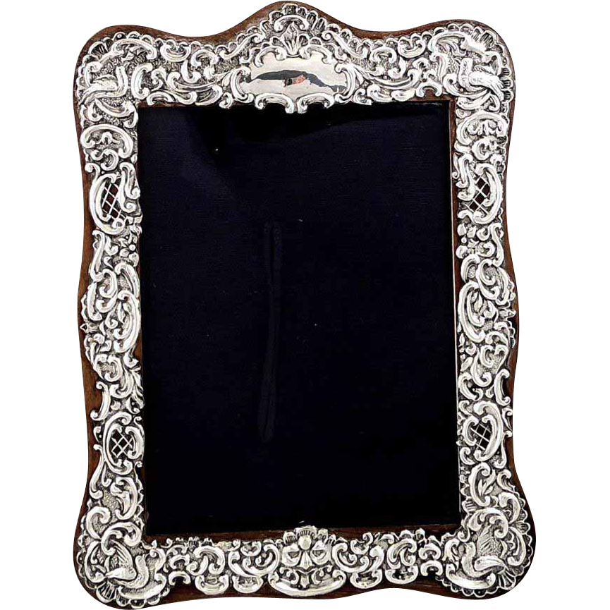 Antique Sterling Silver Photo Frame - Birds, 1916 | Antique Silver ...