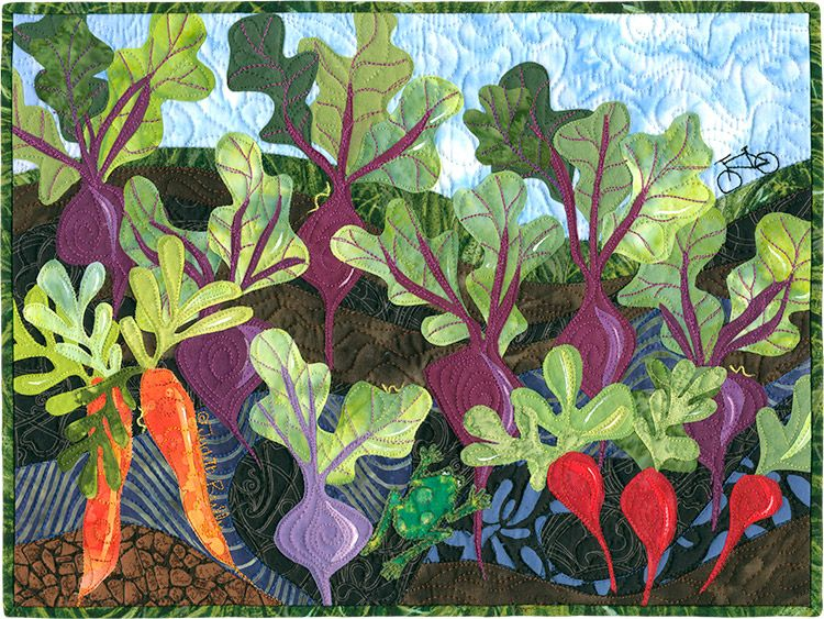 Mostly Beets by Judith Reilly | Quilt Art