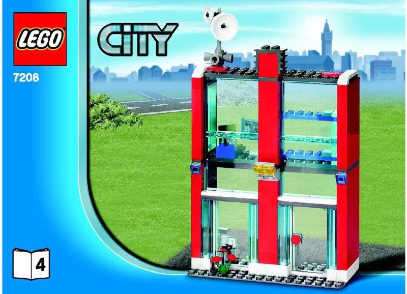 City Fire Station 7208 Legos Pinterest Lego Instructions
