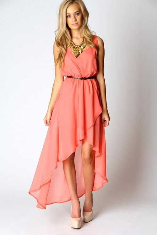 Katie Mixi Hem High Low Dress