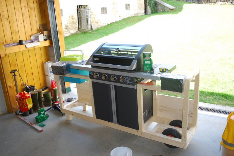 Bauanleitung Outdoor Küche Holz