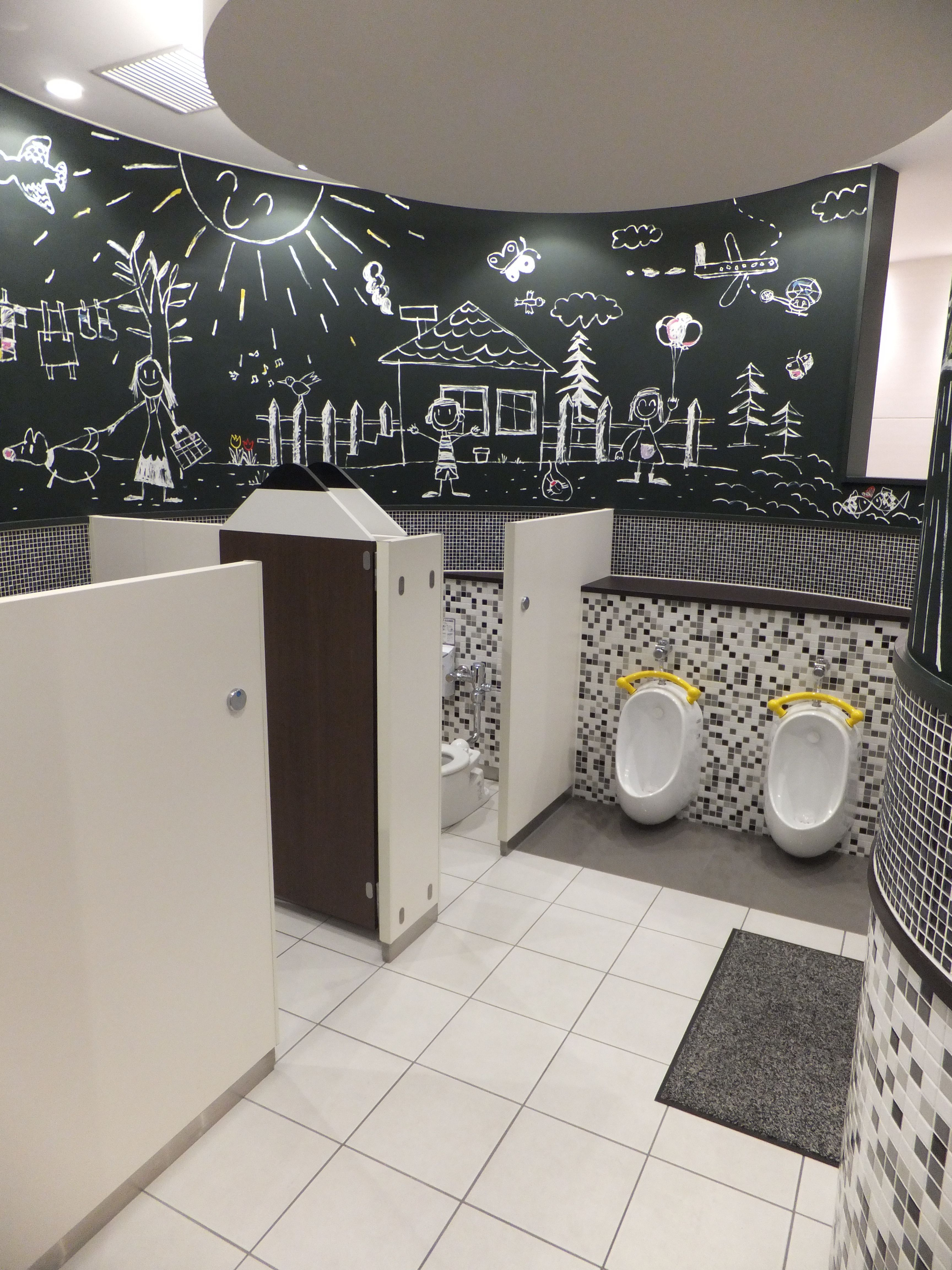 Children school restroom bathroom restroom badezimmer for Raumgestaltung offener kindergarten