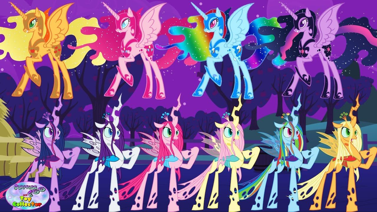My Little Pony Transforms Mane 6 Queen Chrysalis Nightmare Moon Surprise My Little Pony Pony My Little Pony Coloring