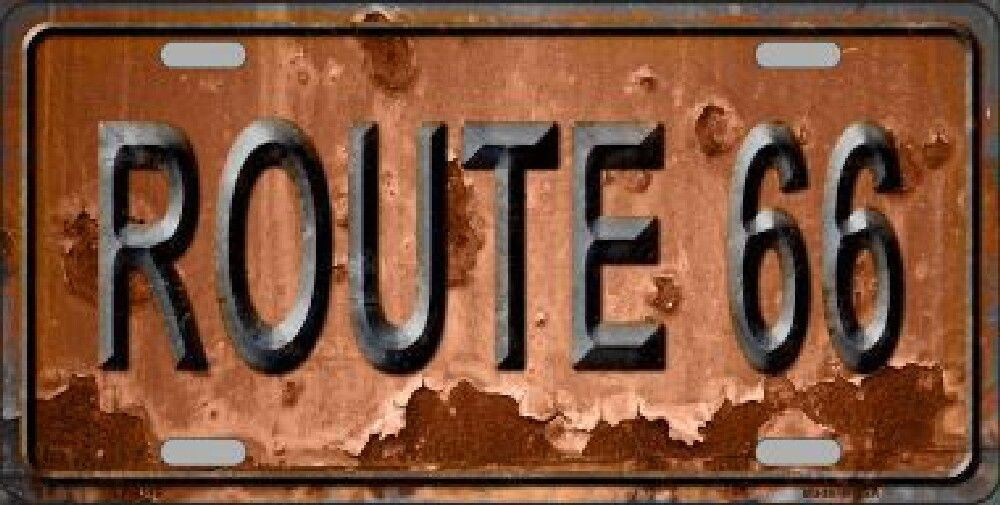 Route 66 Vintaged Decorative Sign Tag License Plate   Made in ...