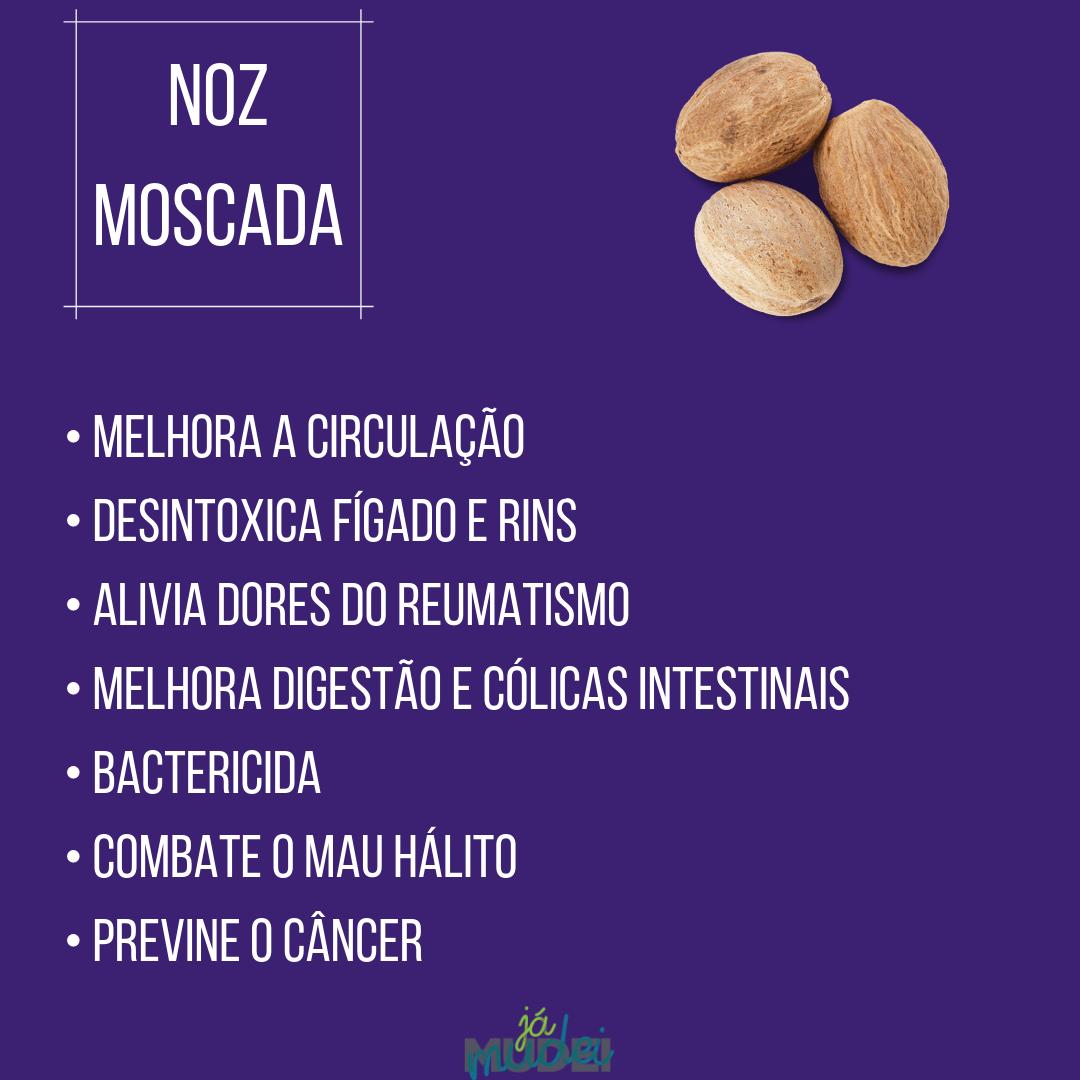 A noz moscada dá um sabor sutil, mas muito especial em algumas preparações, especialmente as que levam queijo, mas também é excelente para a saúde. . . . . . . . . . . #saude #alimentacao #alimentacaofuncional #alimentacaosaudavel #comidadeverdade #temperos #especiarias #comerbem #reeducacaoalimentar #dieta #bemestar #chas #fitoterapia #temperosquecuram #alimentacaobalanceada #comerparaviver #dicas #dicasdesaude #dicasdenutricao #nutricaofuncional #alimentosfuncionais #superalimentos
