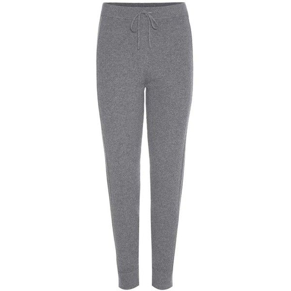 Chloé Cashmere Knitted Sweatpants ($1,515) ❤ liked on Polyvore featuring activewear, activewear pants, pants, grey, cashmere sweatpants, grey sweatpants, gray sweatpants, sweat pants and gray sweat pants