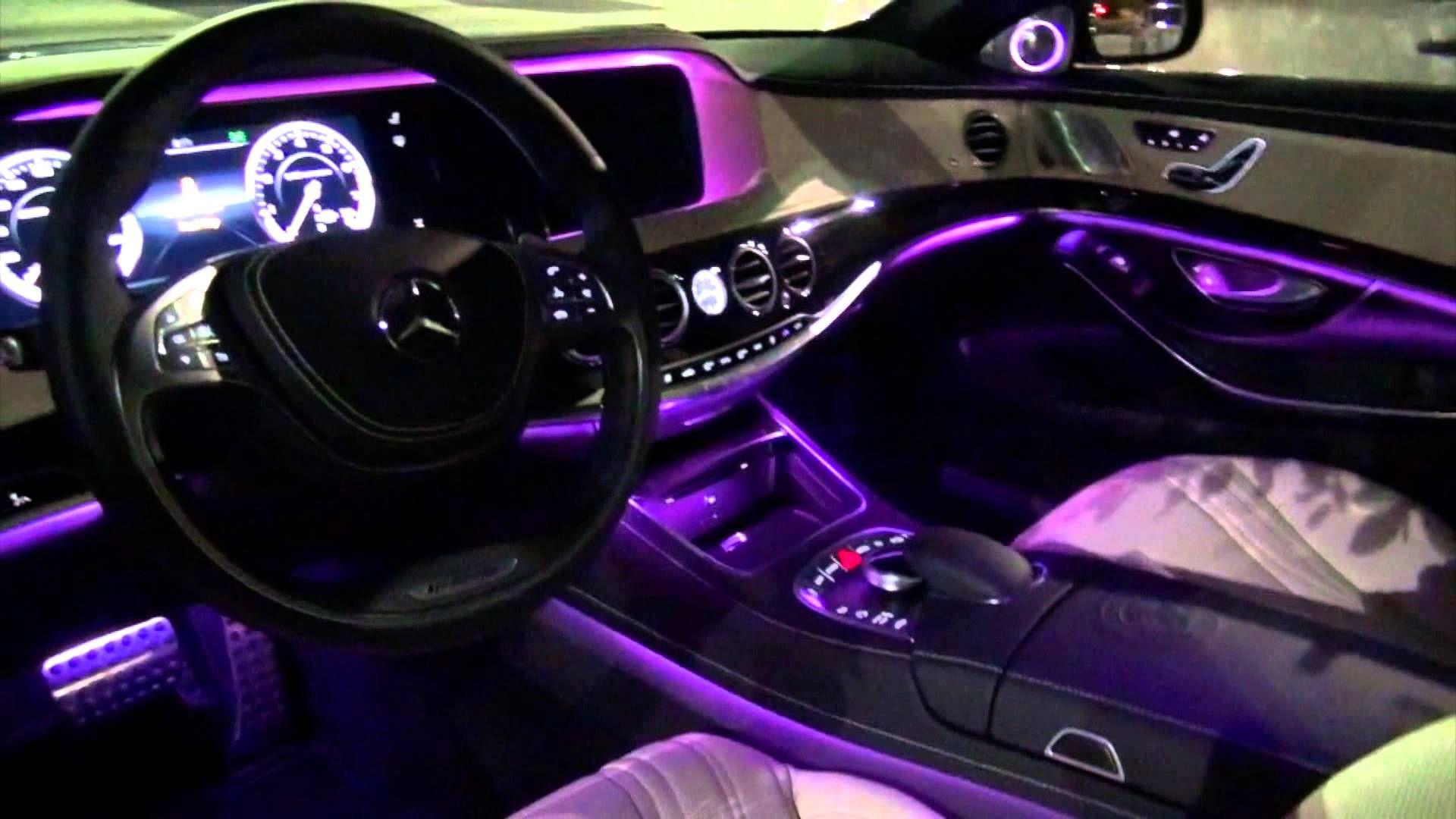 2014 Mercedes Benz S63 Amg Amazing Interior Lighting Custom Car