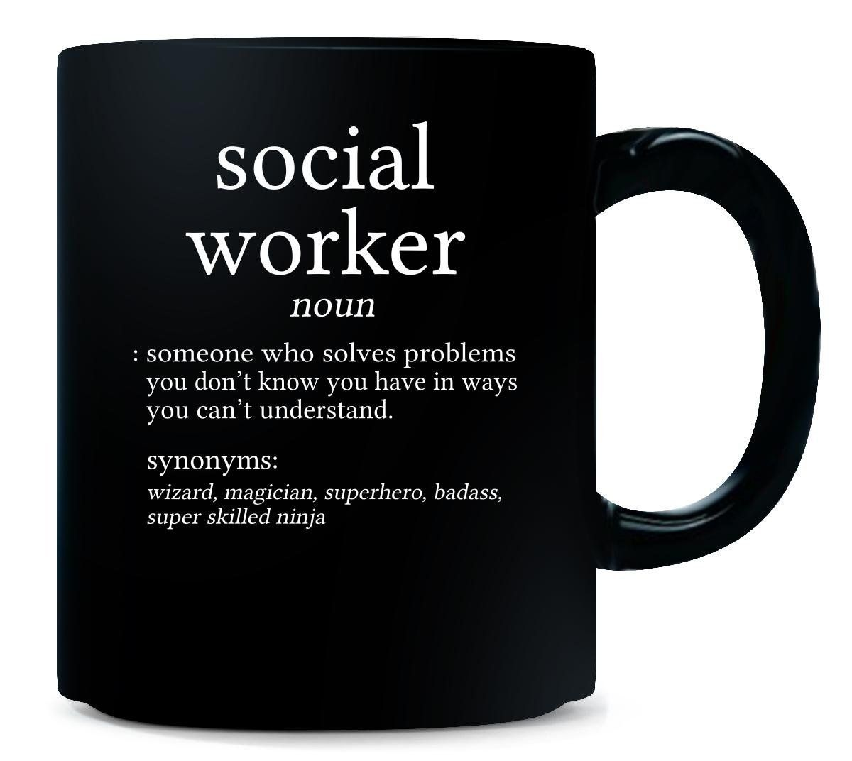 Social Worker Meaning Dictionary Format Funny Gift - Mug ** Find out more about the great product at the image link.